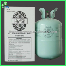 13.6kg medical good price pure R134a pharmaceutical refrigerant made in China