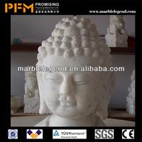 PFM Natural stone hand carved antique buddha head statue