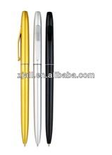 golden color hotel twist action promotional metal ball point pen