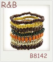 2014 trends multi color bead bracelet