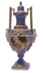Elegant home decoration porcelain and bronze,brass arts-Prize cup