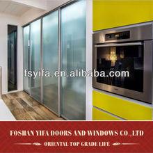 high quality aluminum modern wall to wall sliding wardrobe doors