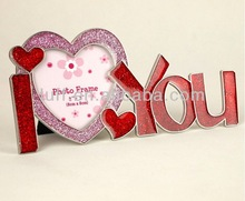 Metal Creative designed I love you special-shaped frame lover's photo frame decorative articles valentine's day best gift