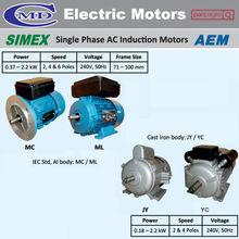 SIMEX Single Phase AC Induction Motors AEM