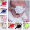 Elastic Shabby Flower Headband Chiffon Rose Toddler Infant Headbands Photo Prop Hair Bows