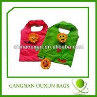 hottest eco-friendly flower reusable shopping bag folding nylon bag