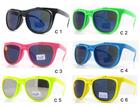 Fashion wayfarer double lens sunglasses with flip up
