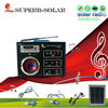 solar fan & lighting system music and radio