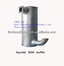 6BT5.9-C engine muffler for Hyundai R220 excavator