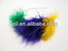 Mardi Gras Purple Peacock Feather Adorned Headband - Costume headpiece
