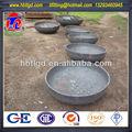 de gran tamaño de acero al carbono astm 234 un extremo del tubo de la tapa de domo gorras de plato
