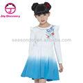 De punto 2014 tie-dye vestido de la muchacha 100% de vestido de algodón