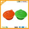 China Factory Supplier Colorful Cheap Flexible portable pet bowl pet folding bowl