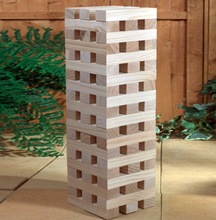 2014 wooden giant tower, wooden tumbling tower,Wood Giant Wooden blocks with 54Pcs