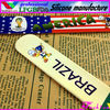 custom 2014 world cup full color print silicone slap wristbands brazil flag wristbands