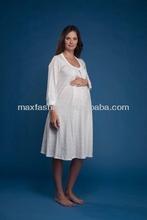 34 Sleeve Nursing and Maternity Pajamas Hospital Nursing Gown Rose Print