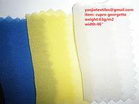 100%cupro chiffon, cupro habotai,cupro cotton spandex fabrics