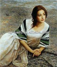 beautiful lady figure oil painting