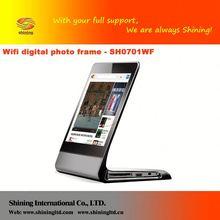 SH0701WF 7 inch wood digital photo frame read memory card