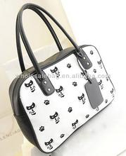 2014 In Stock Hot Sale Cat Printed Branded Handbag Wholesale Price Tote Bag For Ladies Women Girl