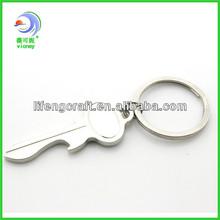 Metal Key Shape Epoxy Blank Keyring