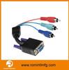 multi connectors 15pin vga cable to 3rca for multi purpose