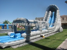 Inflatable sliding water slide, commercial inflatable water slide for adults