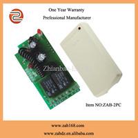 ZAB-2PC,Learning code DC 12V or 24V,2channels rf wireless transmitter receiver kit