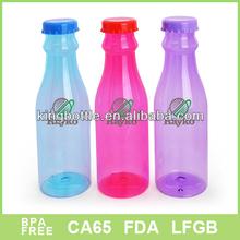 America popular Christmas Plastic juice bottle with fruit infuser