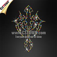 Wholesale bling hot fix rhinestone cross iron on transfer