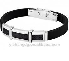 Stylish Black Silicone Bracelet