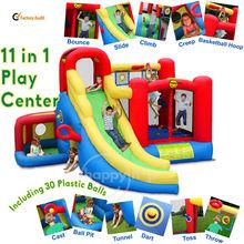 Play Center-9406N 11 in 1 Play Center combo slide bounce