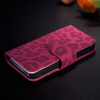 Luxury smartphone case Stand Leopard Wallet Case Cover For iPhone 4 wholesale