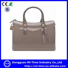 Fashion women summer candy pvc ladies handbag manufacturers in dongguan