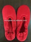 2014 promotional velvet woman ballet slippers steel toe safety shoes