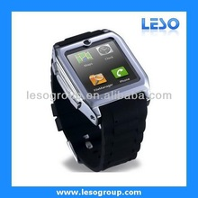 1.54 inch touch screen watch phone bluetooth quad band GSM Mp3/Mp4 with sync phone call and SMS function
