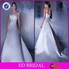 Sweetheart Strapless Taffeta Appliqued With Long Train Taobao Wedding Dress(ED-W120)