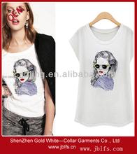 beaded fashion women's t shirt