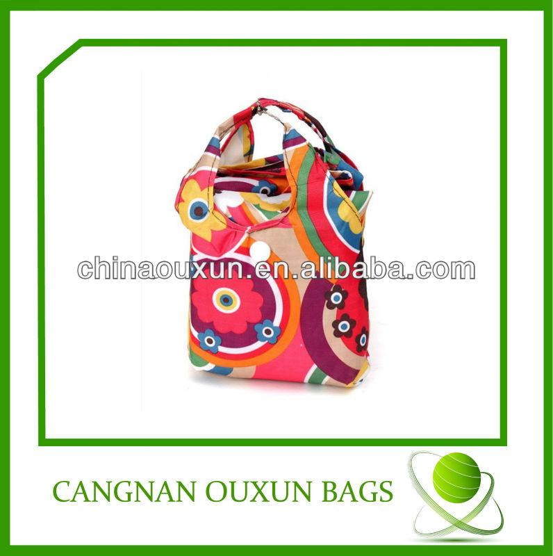 2014 customized foldable shopping bag polyester