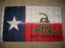 3'x5' Texas Gadsden 'Don't Tread on me Flag Banners