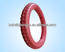Pu foam wheel FLAT FREE TIRE/ colorful foam tire / foam tire baby car