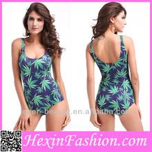 New Arrival Marijuana Design Sexy Girls Model in Swimsuits