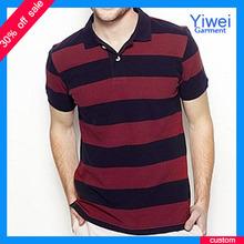 Wholesale Stripe 100% Cotton Short Sleeve Polo Shirt For Men