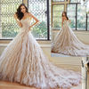 Ball Gown Strapless Sweetheart Neckline Asymmetrical Waist Layers Of Tulle Puffy Dress Bridal Gown