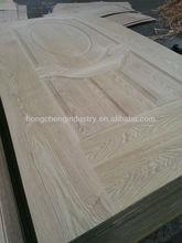 Natural ash wood veneer faced MDF door skin