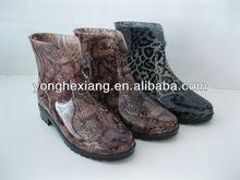 2014 New style PVC Rain boots women snake skin
