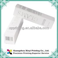 Custom design cosmetic folding gift paper perfume packaging box