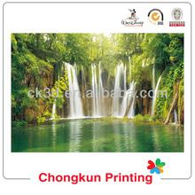 beautiful waterfall design lenticular PP/PET 3d picture