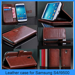 Case for Samsung s4 Luxury Flip Leather Wallet Cell Phone Case Skin For Samsung Galaxy S4 S IV i9500(PT-S4L246)