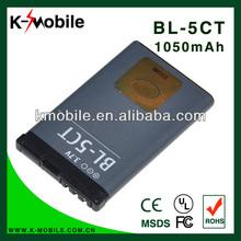 Low Price BL-5CT Battery For Nokia 5220XM 6303C 6730C C3-01 C3-01m C5-00 C5-02 C6-01